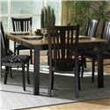 Canadel Custom Dining - Contemporary <b>Customizable</b> Rectangular Table - Item Number: TAB 0-4811-0105-M-HD-4