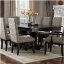Canadel Custom Dining - Contemporary <b>Customizable</b> Rectangular Table - Item Number: TAB 0-4811-3030-M-XA-4+BAS