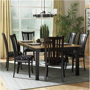 Canadel Custom Dining - Contemporary <b>Customizable</b> Rectangular Table Set