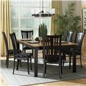 Canadel Custom Dining - Contemporary <b>Customizable</b> Rectangular Table Set - Item Number: TAB4811+2xCHA0351-WA+4xCHA0351
