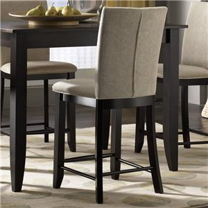 "Canadel Custom Dining - High Dining <b>Customizable</b> 24"" Upholstered Stool"