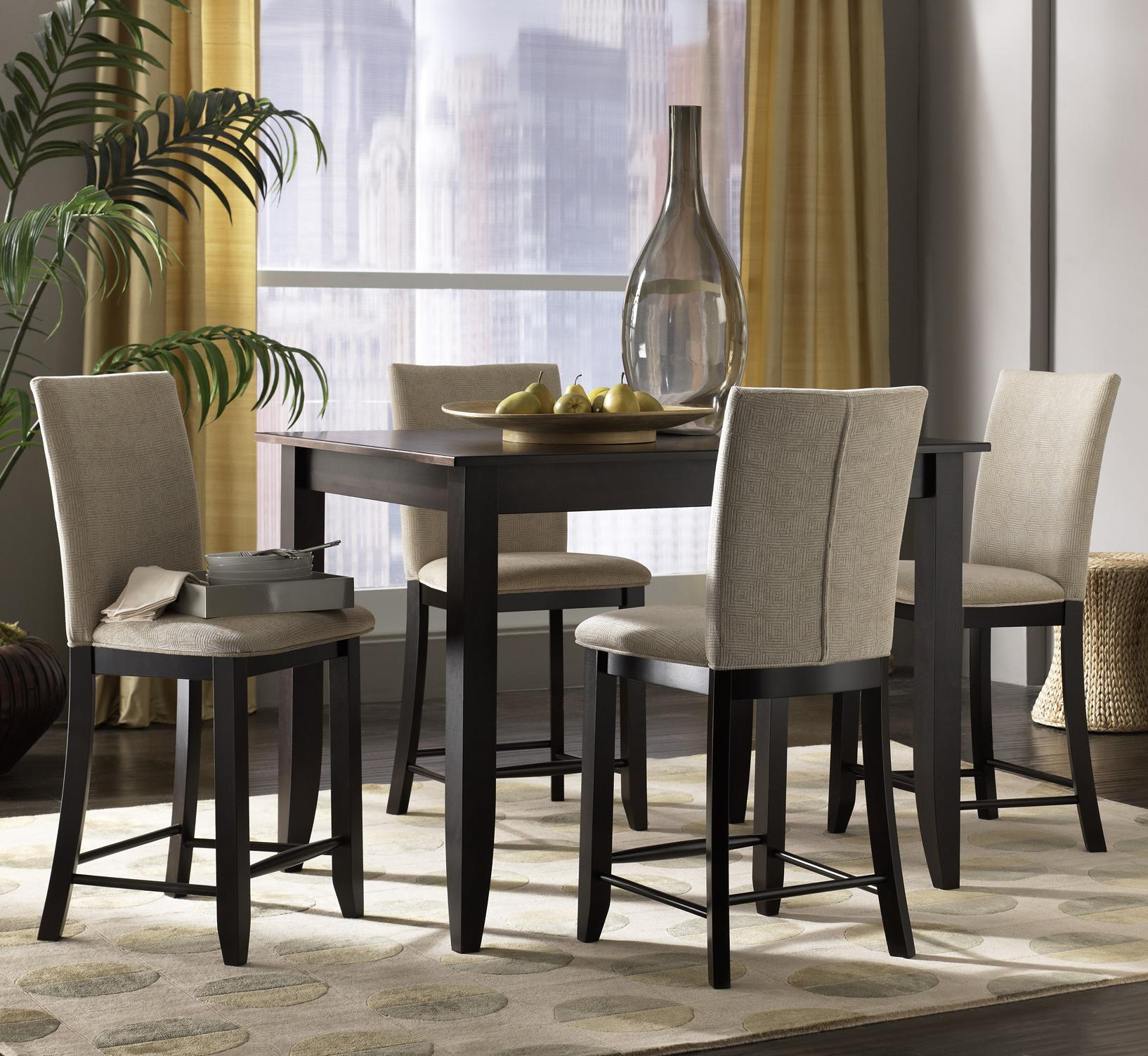 Canadel custom dining high dining customizable 5 piece for High table and chairs dining set