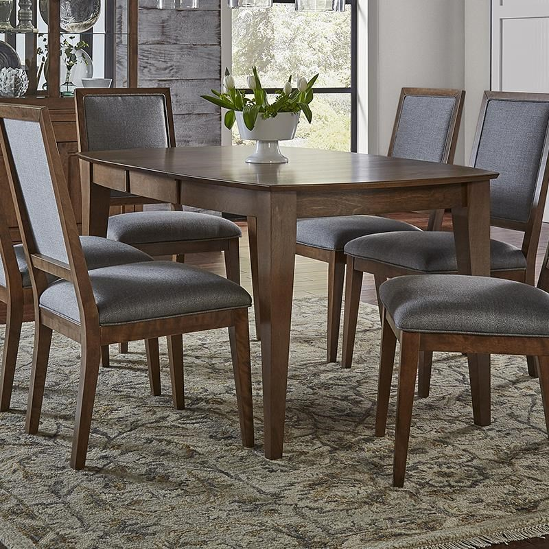 Pecan Wood Furniture Dining Room: Canadel Pecan Washed Dining Table