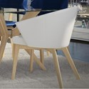 Canadel Downtown - Custom Dining Customizable Dining Chair - Item Number: CHA05139TU02MNA