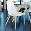 Canadel Downtown - Custom Dining Customizable Dining Side Chair - Item Number: CHA05141TU02MNA
