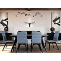 Canadel Downtown - Custom Dining Contemporary Customizable Rectangular Table Set