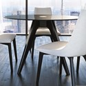 Canadel Downtown - Custom Dining Customizable Dining Table - Item Number: GRN04848CT05MDQNF+BAS01005NA05MDQ