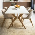 Canadel Downtown - Custom Dining Customizable Dining Set - Item Number: GRE04072WH20MDPNF+BAS+4xCNN05140