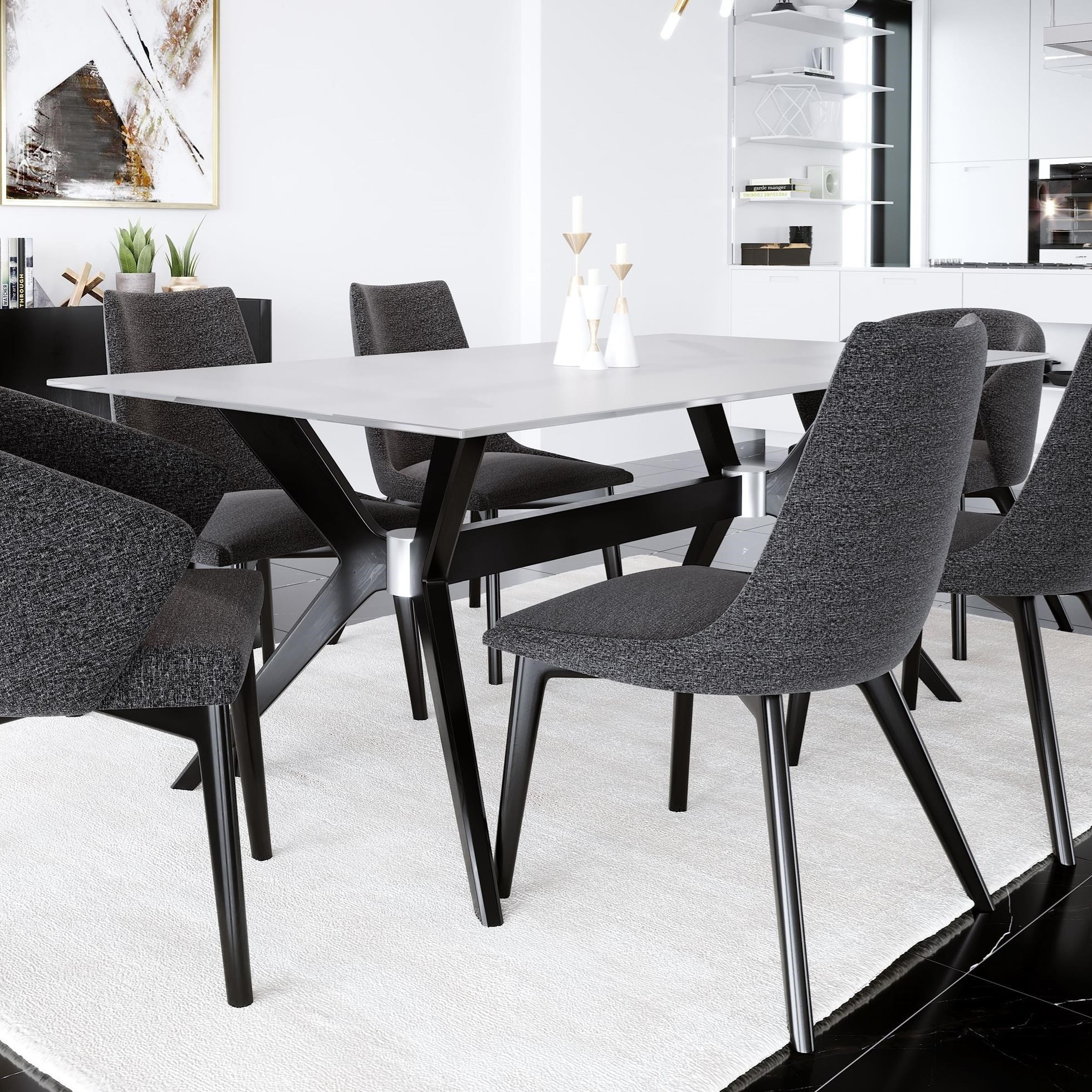 Picture of: Canadel Downtown Custom Dining Customizable Glass Top Dining Table Belfort Furniture Dining Tables