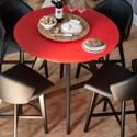 Canadel Downtown - Custom Dining Customizable Glass Top Counter Table - Item Number: GRN04242CP63MDRNF+BAS