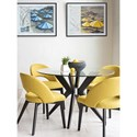 Canadel Downtown - Custom Dining Customizable Table Set - Item Number: GRN0484+BAS0100+4xCNN0514