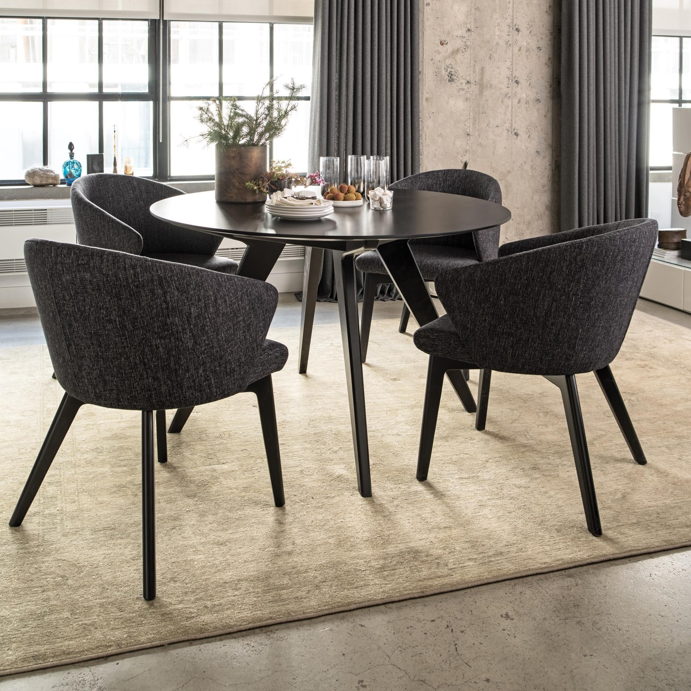 Canadel Downtown Custom Dining Customizable Round Table
