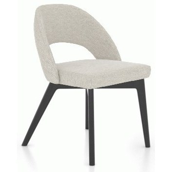 Downtown - Custom Dining Customizable Dining Side Chair by Canadel at Baer's Furniture