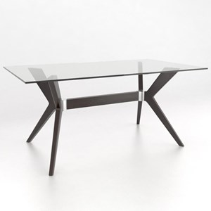 Canadel Downtown - Custom Dining Customizable Rectangular Table w/ Glass Top