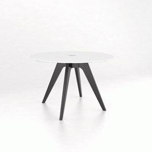 Customizable Round Glass Top Table