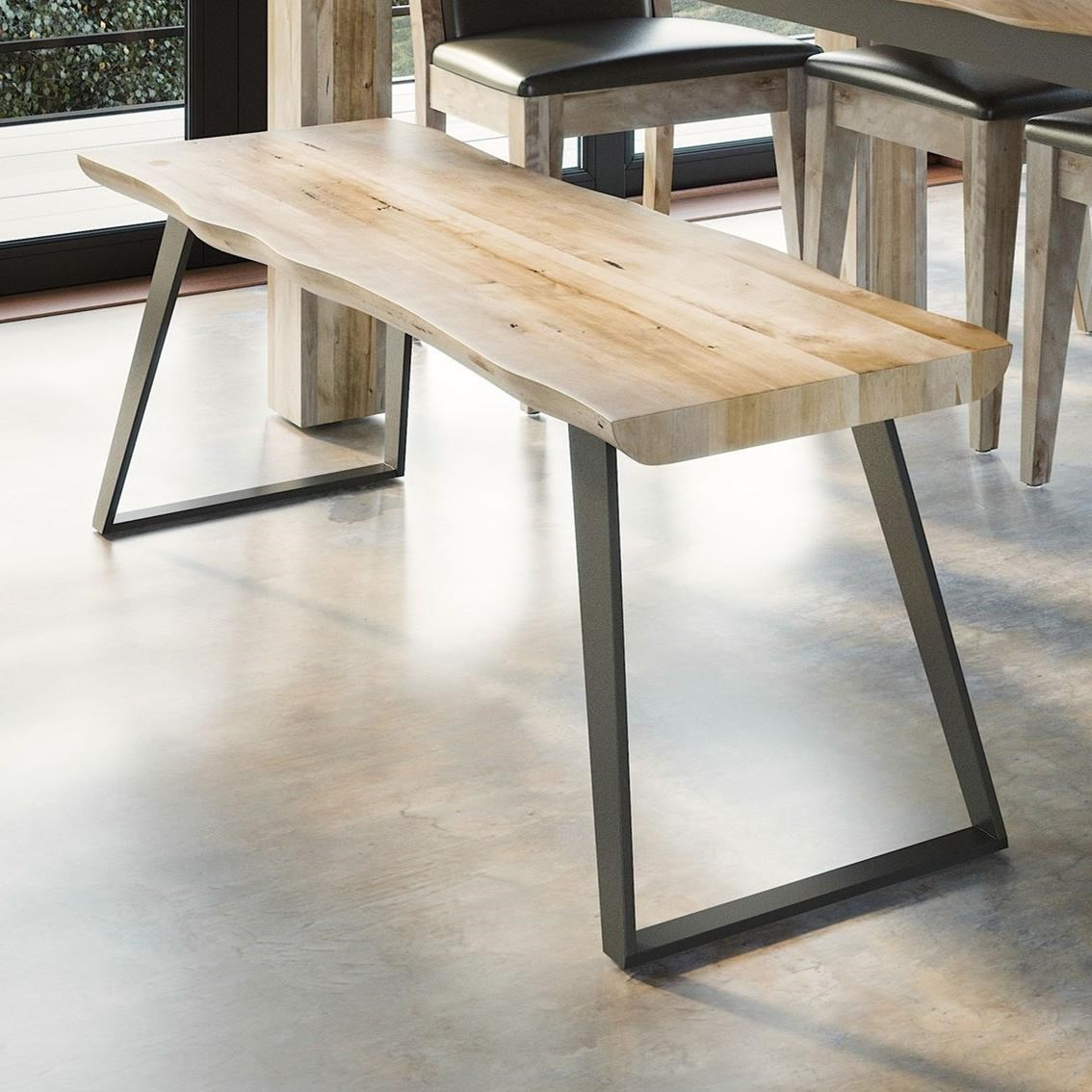 East Side Customizable Live Edge Bench by Canadel at Dinette Depot