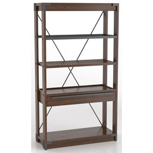 Canadel East Side Customizable Wooden Bookcase