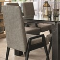Canadel East Side Customizable Dining Arm Chair - Item Number: CHA090407C63ENA