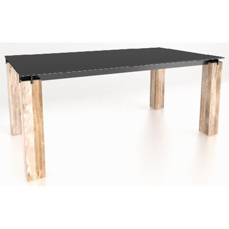 East Side Customizable Glass Top Table by Canadel at Dinette Depot