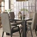 Canadel East Side Customizable Dining Table Set - Item Number: GRE4072+6xCHA9040