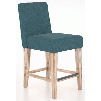 East Side Customizable Upholstered Stool by Canadel at Dinette Depot