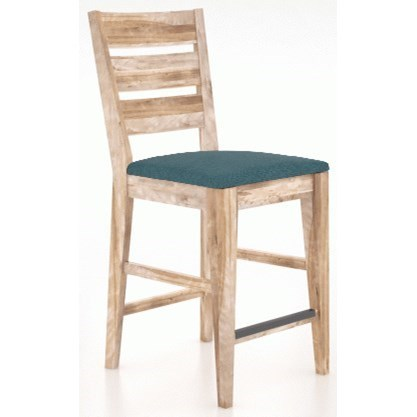 East Side Customizable Ladder Back Stool by Canadel at Dinette Depot