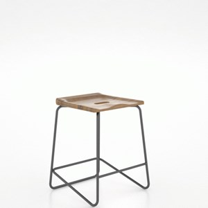 Customizable Wood/Metal Saddle Stool