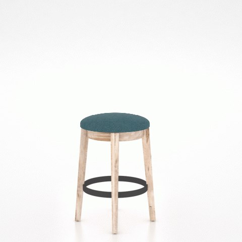 East Side Customizable Backless Upholstered Stool by Canadel at Dinette Depot