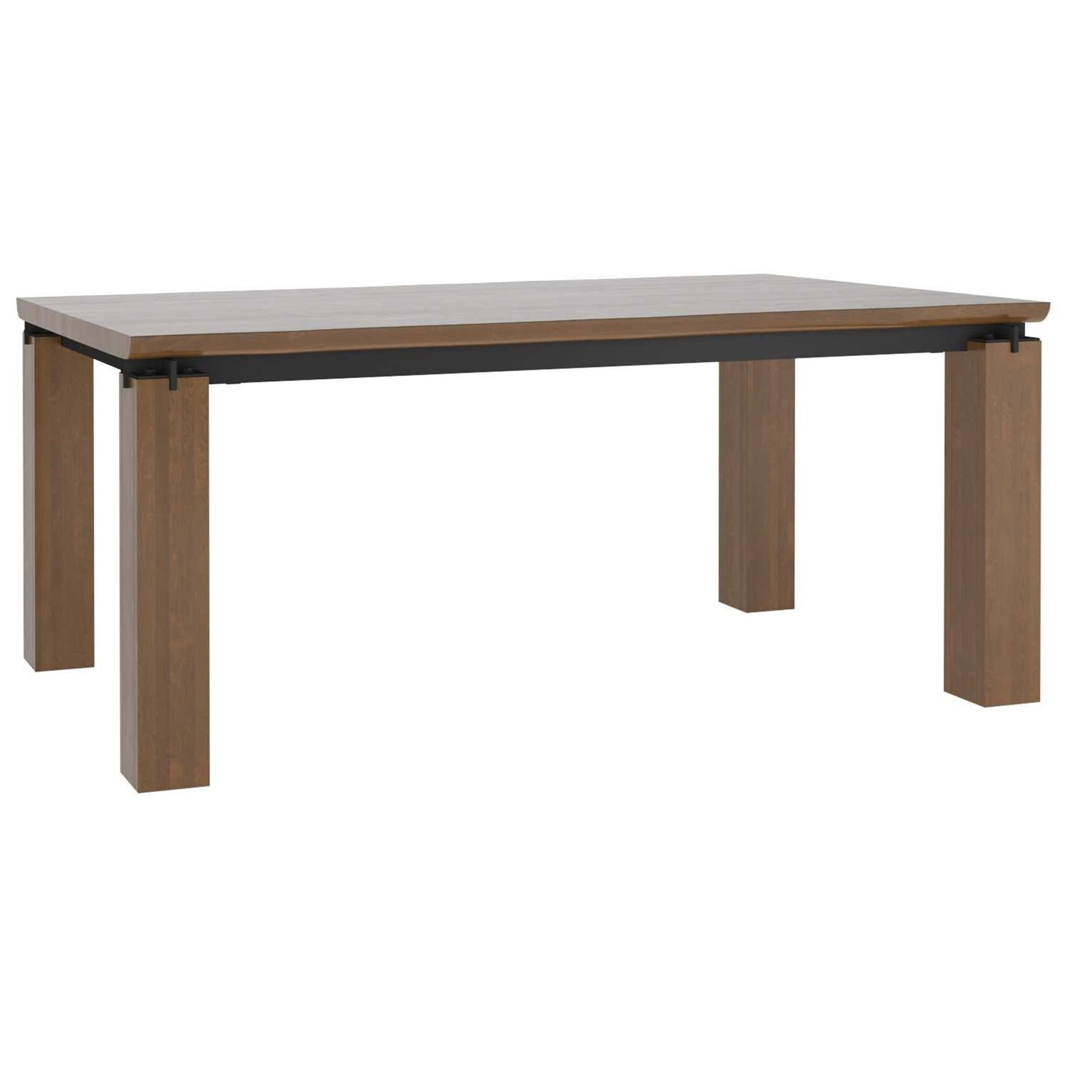 East Side Customizable Wood Top Dining Table by Canadel at Dinette Depot