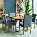 Canadel East Side Customizable Dining Table Set - Item Number: TRE4072+6xCHA9041
