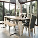 Canadel East Side Customizable Dining Table Set  - Item Number: TRE4172+5xCNN9046+BNN9062