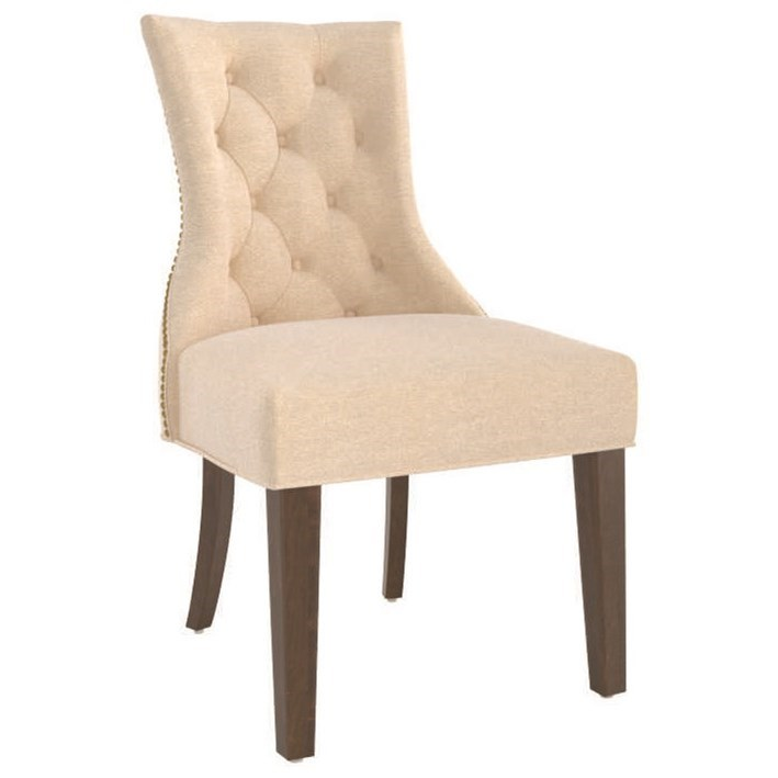 Farmhouse Customizable Upholstered Side Chair by Canadel at Dinette Depot