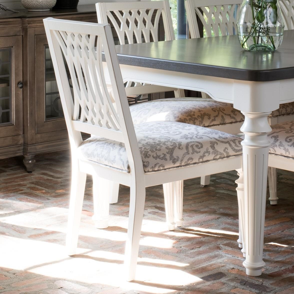 Farmhouse Chic Customizable Dining Side Chair by Canadel at Dinette Depot