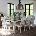Canadel Farmhouse Chic Customizable Dining Table Set - Item Number: TRE04288+8xCNN05158