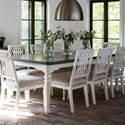 Canadel Farmhouse Chic Customizable Rectangular Dining Table - Item Number: TRE042884980AFBTF