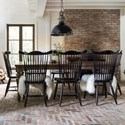 Canadel Farmhouse Chic Customizable Dining Table Set - Item Number: TRE04868+8xCNN05162