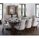 Canadel Farmhouse Chic Customizable Dining Table Set - Item Number: TRE04892+2xCHA0318+6xCHA0317