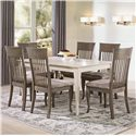 Canadel Gourmet - Custom Dining <b>Customizable</b> Rectangular Table Set - Item Number: TRE03860+6xCHA09006