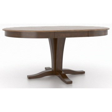 Gourmet - Custom Dining Customizable Round/Oval Table with Pedestal by Canadel at Dinette Depot
