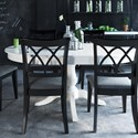 Canadel Gourmet - Custom Dining Customizable Round/Oval Table with Pedestal - Item Number: TRN048485050MVSD1+BAS
