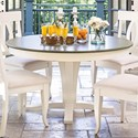 Canadel Gourmet - Custom Dining Customizable Round Table - Item Number: TRN054543280MVRBF+BAS