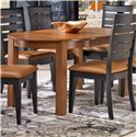 Canadel Gourmet - Custom Dining <b>Customizable</b> Round Leg Table - Item Number: TRN042422828MVDD1