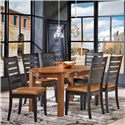 Canadel Gourmet - Custom Dining <b>Customizable</b> Round Table Set - Item Number: TRN4242+6xCHA9088