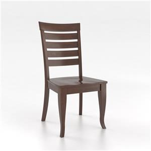 Canadel Gourmet - Custom Dining Chestnut Washed Side Chair