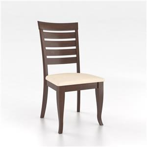 Canadel Gourmet - Custom Dining Chestnut Washed Upholstered Side Chair