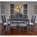 Canadel Gourmet - Custom Dining <b>Customizable</b> Square Table Set - Item Number: TSQ05454+8xCHA09015