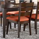 Canadel Gourmet - Custom Dining Customizable Upholstered Side Chair with Slat Back