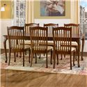 Canadel Gourmet - Custom Dining <b>Customizable</b> Rectangular Table Set - Item Number: TRE04262+6xCHA09004