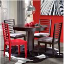 Canadel Gourmet - Custom Dining <b>Customizable</b> Round Table Set - Item Number: TRN4242+BAS+3xCHA9002+CHA90024040