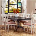 Canadel Gourmet - Custom Dining <b>Customizable</b> Rectangular Table Set - Item Number: TRE04262+6xCHA09024